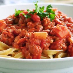 VEGETARIAN DINNER: Veggie Bolognese